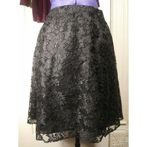 Vintage lace circle skirt full a-line skater goth